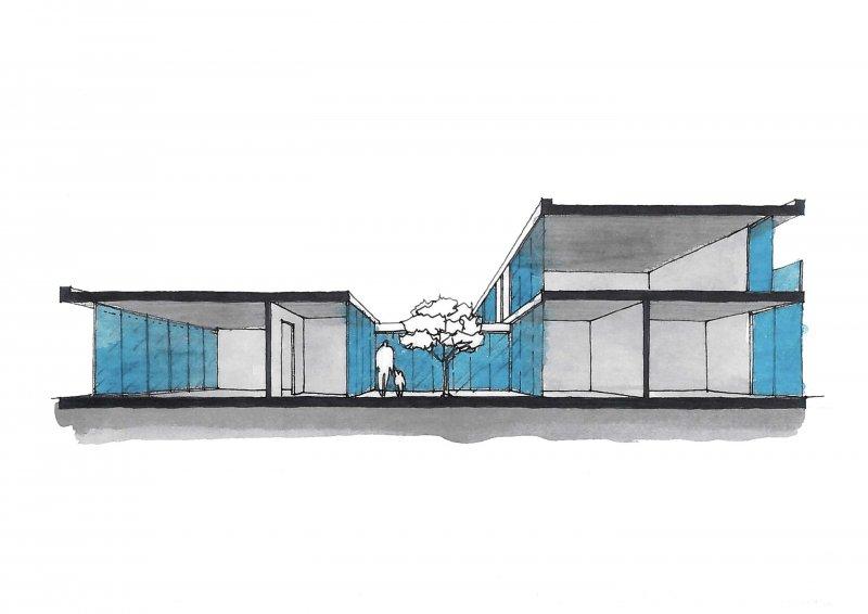 Lad laboratorio di architettura e design 5 case a patio for Case progettate da architetti