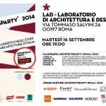 ArchitectsParty/2014   Martedì 16 Settembre   LAD